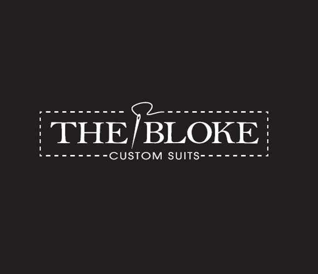 Logo vom Modelabel The Bloke, das Maßanzüge für Hochzeiten anbietet.
