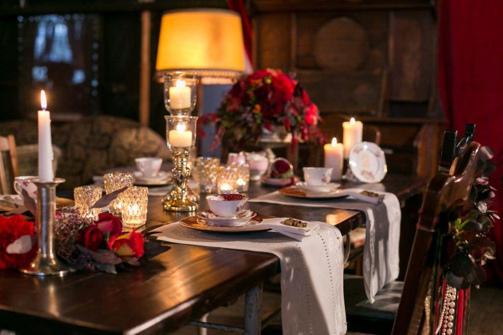 Vintage Hochzeitsdeko Tisch