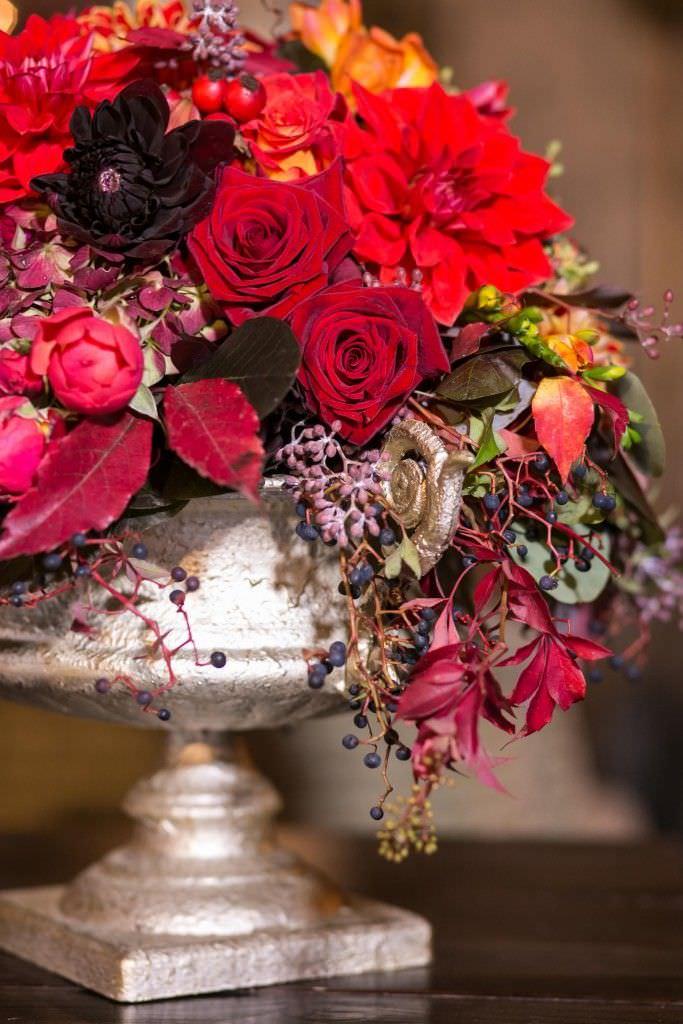Hochzeitsblumen in Rot