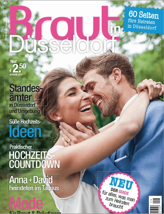 Coverfoto des Braut in Düsseldorf Magazins