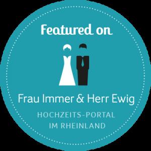 Badge featured on Frau Immer & Herr Ewig Hochzeits-Portal