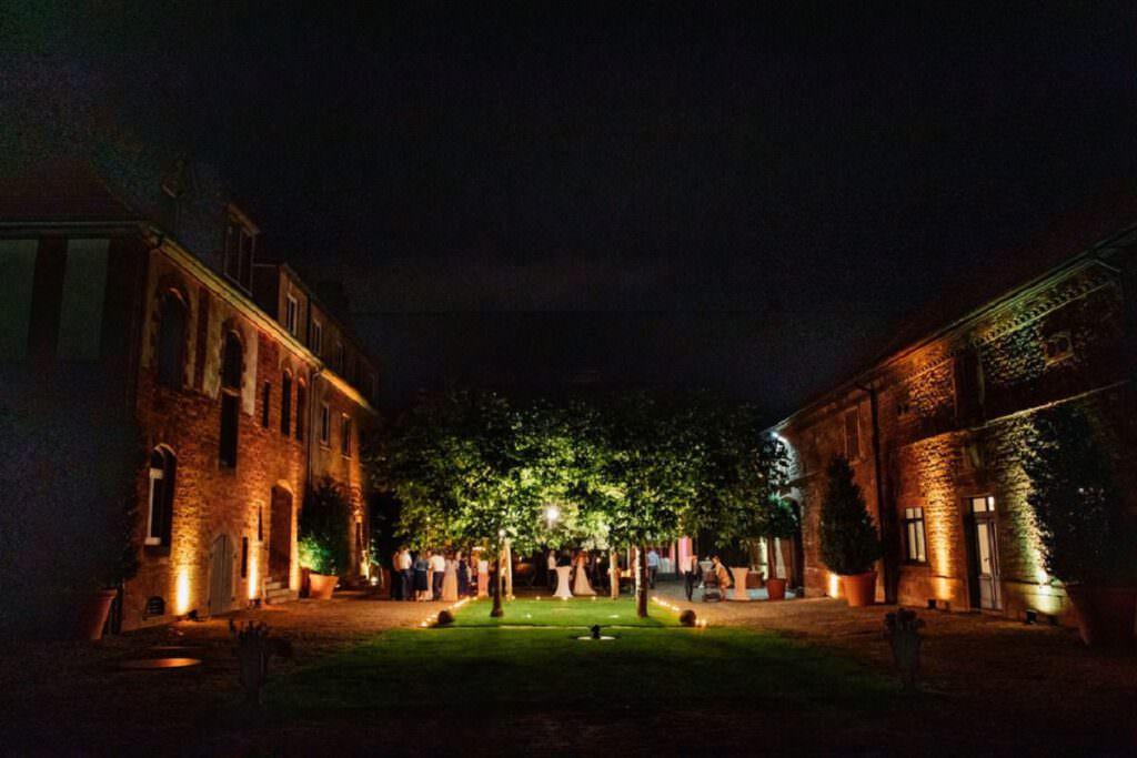Gutshof Ladenburg Heidelberg bei Nacht