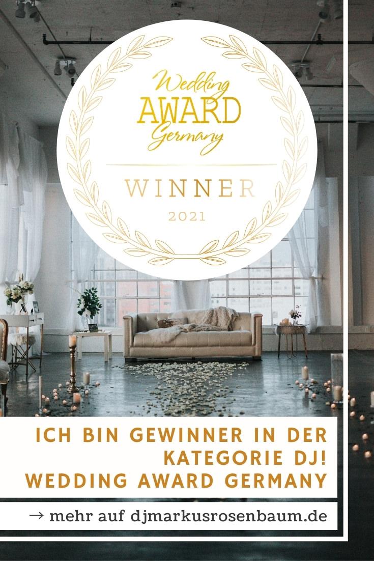 Wedding Award Germany - Hochzeits-DJ Markus Rosenbaum Gewinner