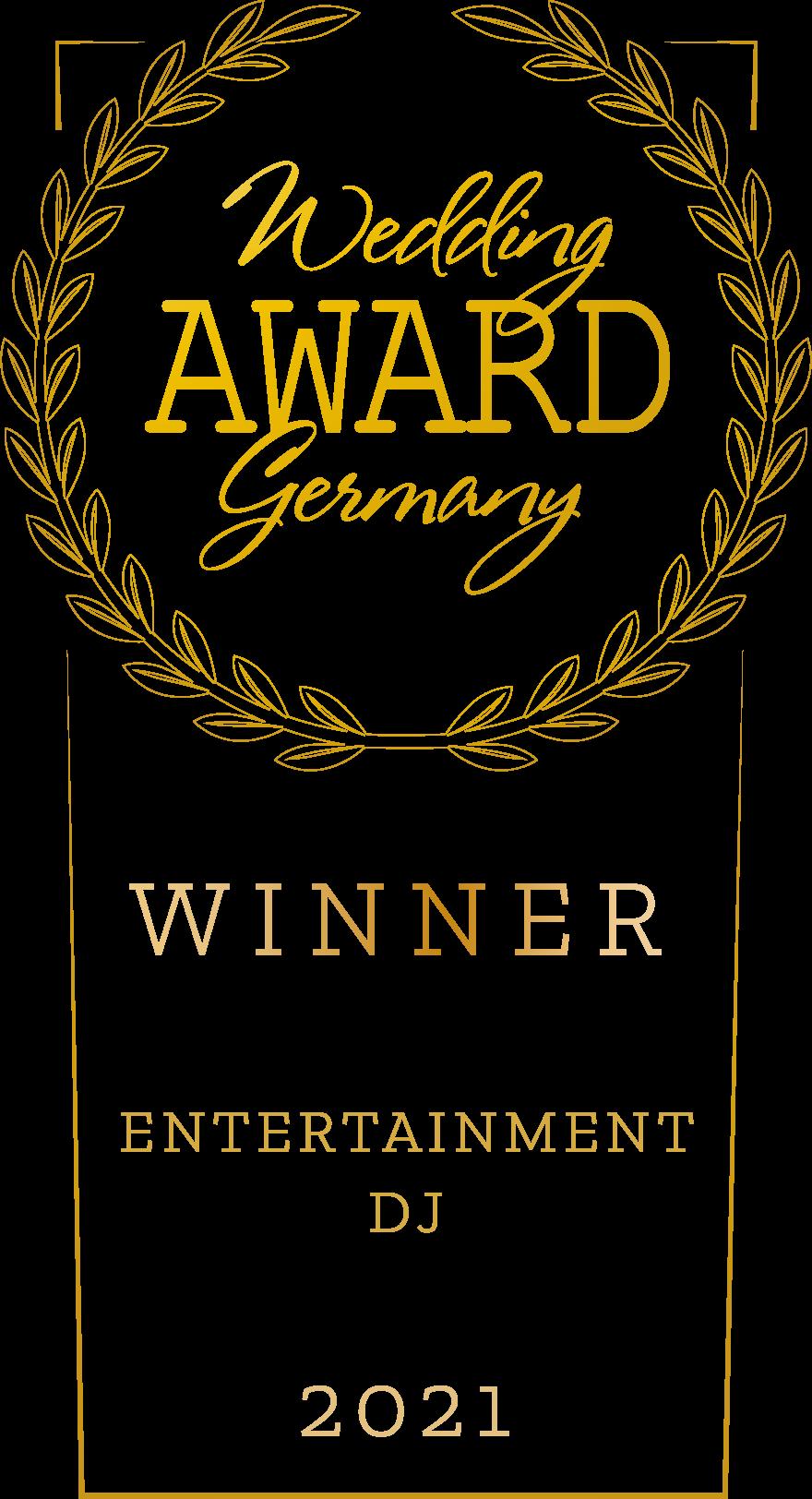 Wedding Award Gewinner 2021 Auszeichnung